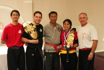Sifu Al Dacascos with Goldsmith Kung Fu and MMA winners at the 2008 KOA tournament